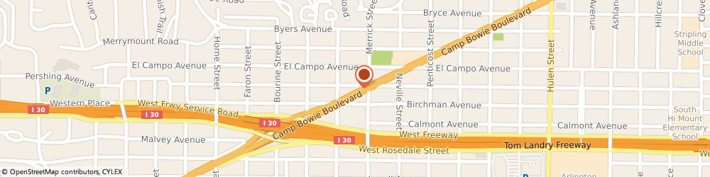 Route/map/directions to Texaco, 76112 Fort Worth, 5200 Camp Bowie Blvd.