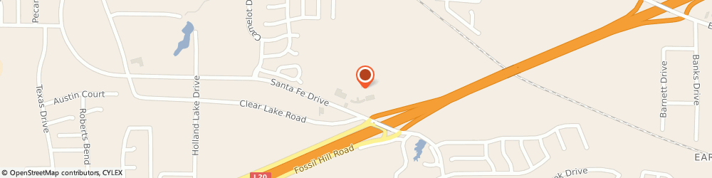 Route/map/directions to Valero Weatherford, 76086 Weatherford, 2001 Santa Fe