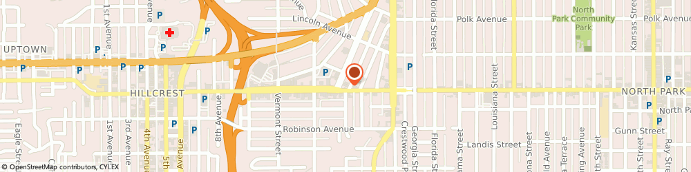 Route/map/directions to Citibank ATM, 92103 San Diego, 1602 University Ave