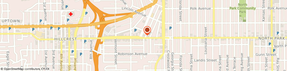 Route/map/directions to 7-Eleven, 92103 San Diego, 1602 University Ave