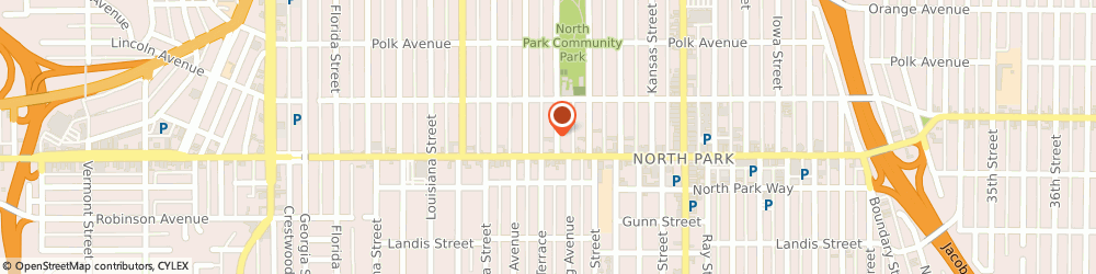 Route/map/directions to STATE FARM Daniel King, 92104 San Diego, 3930 Oregon Street, Suite 100