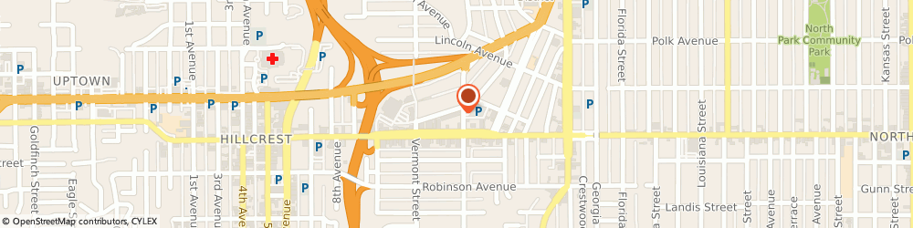Route/map/directions to PostalAnnex+, 92103 San Diego, 1286 University Ave