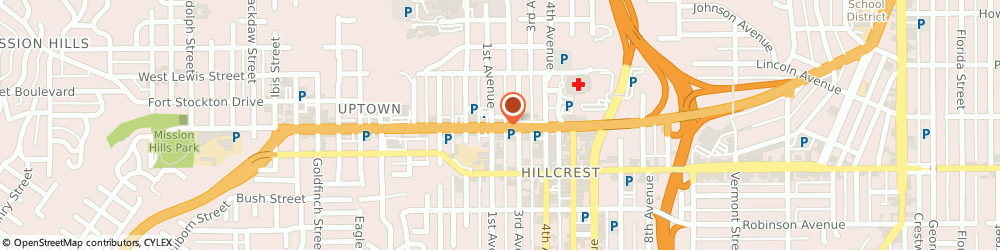 Route/map/directions to Baja Fresh Mexican Grill, 92103 San Diego, 120 WEST WASHINGTON STREET
