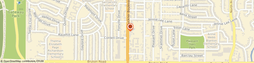 Route/map/directions to Jackson Hewitt Tax Service, 75227 Dallas, 2323 S. BUCKNER BLVD. STE. 100