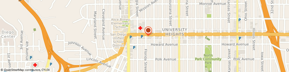 Route/map/directions to Citibank ATM, 92104 San Diego, 1995 El Cajon Blvd