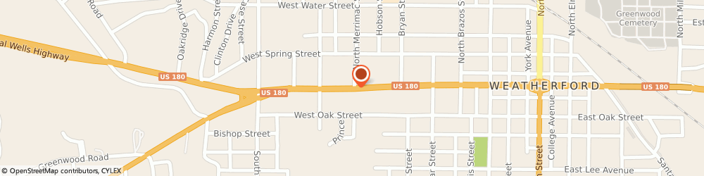 Route/map/directions to Valero WEATHERFORD, 76086 Weatherford, 802 Palo Pinto St