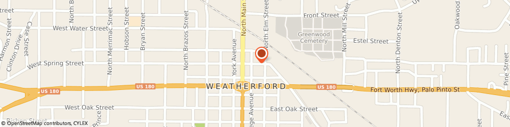 Route/map/directions to Valero WEATHERFORD, 76086 Weatherford, 229 E Spring St