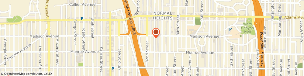 Route/map/directions to SocialSEO, 92116 San Diego, 4582 Bancroft St