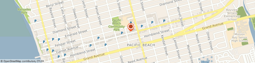 Route/map/directions to Chipotle Mexican Gril, 92109 San Diego, 1504 GARNET AVENUE