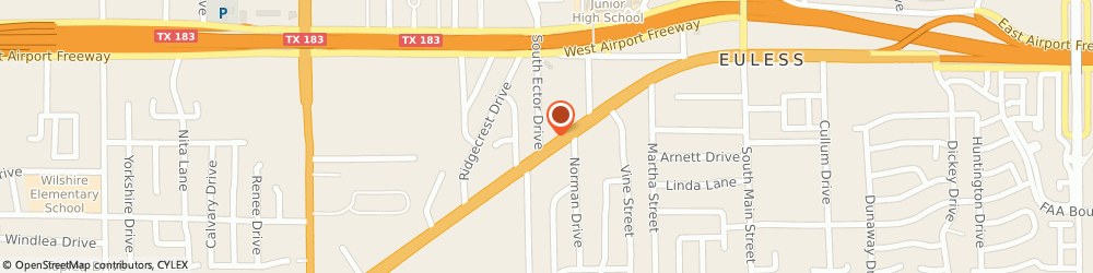Route/map/directions to ACE Cash Express, 76040 Euless, 508 W Euless Blvd