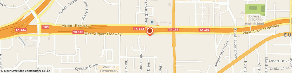 Route/map/directions to Atm 24 Com, 76040 Euless, 1331 AIRPORT FREEWAY