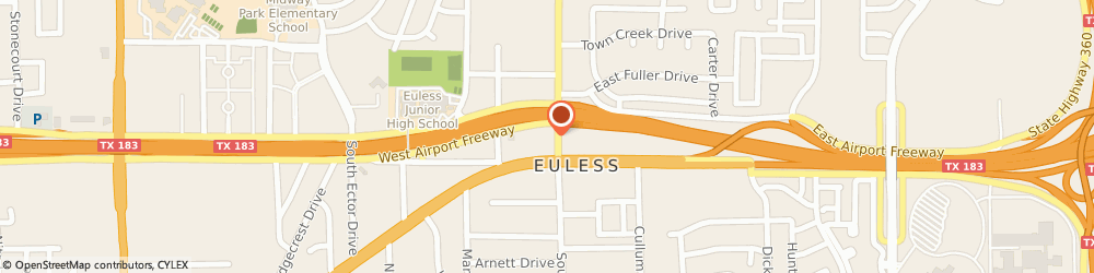 Route/map/directions to Main Street Mobil, 76040 Euless, 105 NORTH MAIN STREET