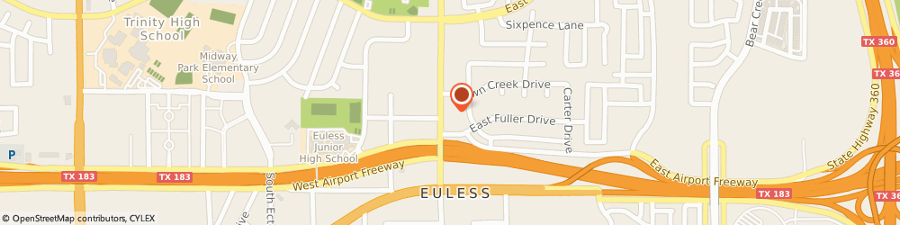 Route/map/directions to Kees Quality Cleaners, 76039 Euless, 296 NORTH MAIN STREET