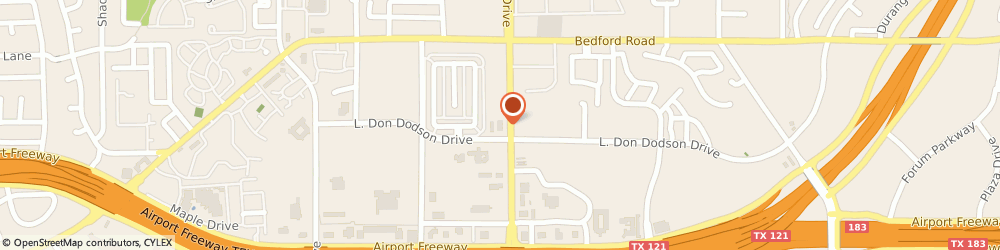 Route/map/directions to Citibank ATM, 76021 Bedford, 2201 Central Drive
