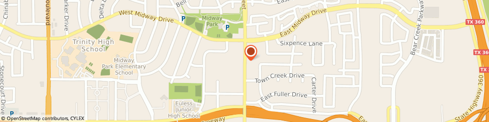 Route/map/directions to S K TV, 76039 Euless, 415 NORTH MAIN STREET