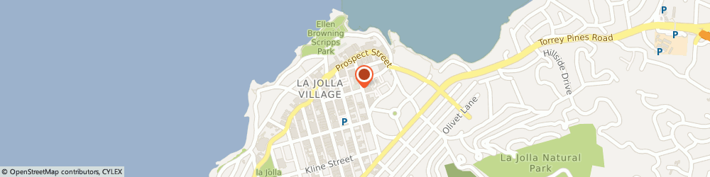 Route/map/directions to United States Postal Service, 92037 La Jolla, 1140 Wall St