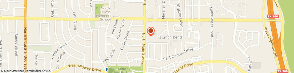 Route/map/directions to Innovate Health, 76039 Euless, 910 North Main Street