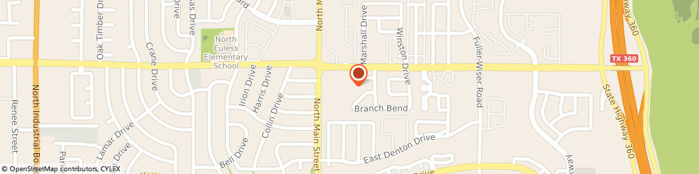Route/map/directions to Kroger, 76039 Euless, 1060 N Main St