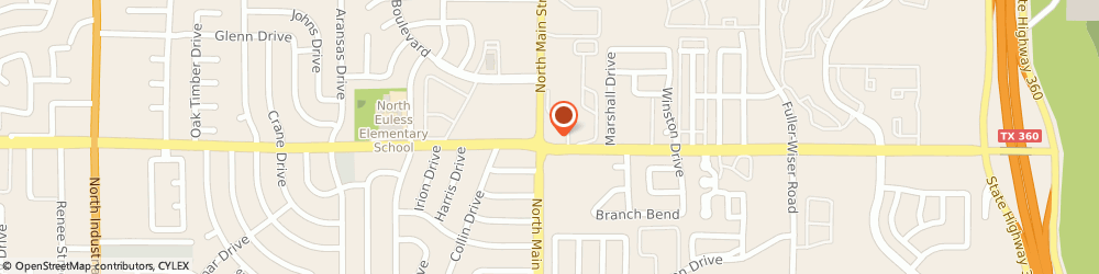 Route/map/directions to Texaco Gas & Food Mart No 2, 76039 Euless, 1100 NORTH MAIN STREET