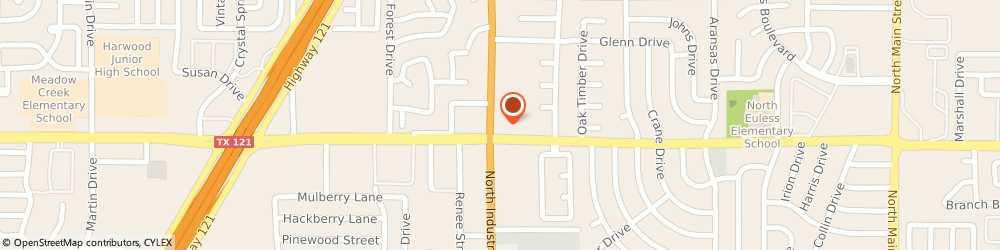 Route/map/directions to Citibank ATM, 76039 Euless, 1100 N Industrial Blvd