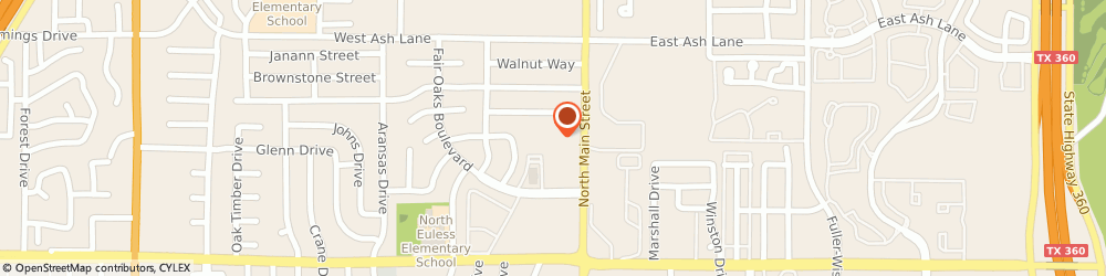 Route/map/directions to United Memorial Christian Church Of Euless, 76039 Euless, 1401 NORTH MAIN STREET