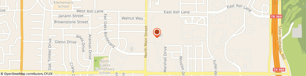 Route/map/directions to Oak Park Apartments, 76039 Euless, 1350 NORTH MAIN STREET