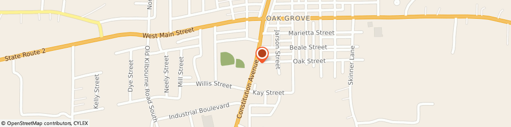 Route/map/directions to O'reilly Auto Parts, 71263 Oak Grove, 707 S Constitution Ave