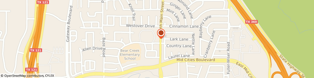 Route/map/directions to Eye Slayed LLC, 76039 Euless, 2501 North Main Street
