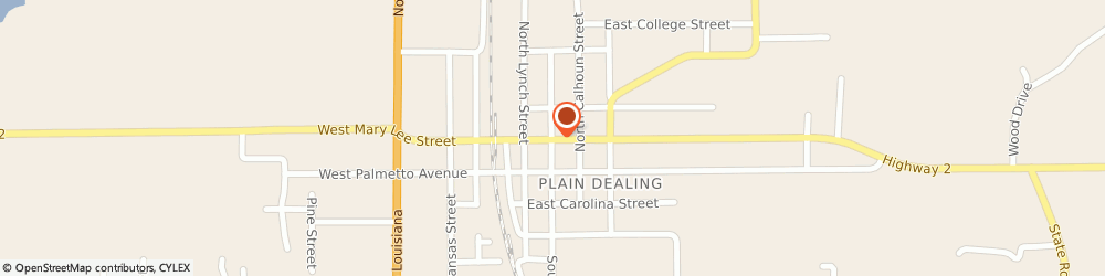 Route/map/directions to First Presbyterian Church, 71064 Plain Dealing, 404 EAST MARY LEE STREET