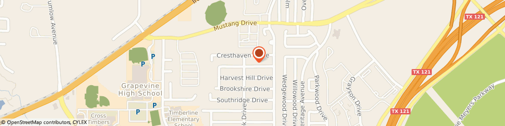Route/map/directions to Chuck Higbee Design, 76051 Grapevine, 2840 RIDGEWOOD DR