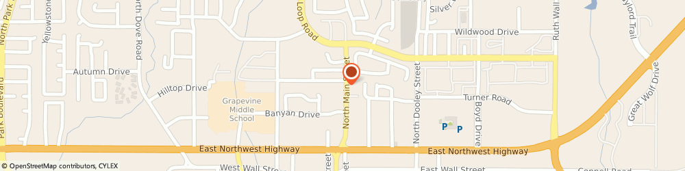 Route/map/directions to CICIS PIZZA, 76039 Euless, 415 NORTH MAIN STREET