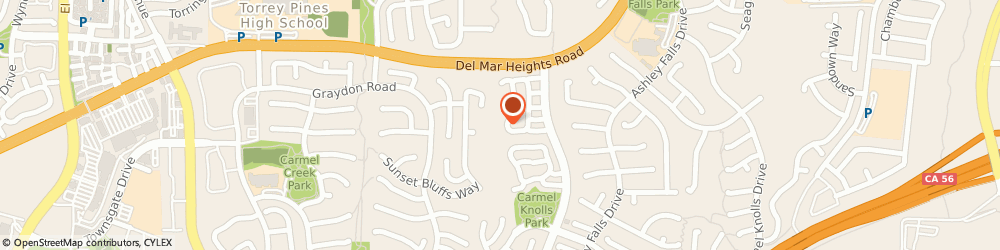 Route/map/directions to Gayle Van Leer Thoroughbred Services, 92130 San Diego, 12990 CAMINITO BAUTIZO