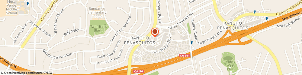 Route/map/directions to Bank of America, 92129 San Diego, 13205 BLACK MOUNTAIN RD