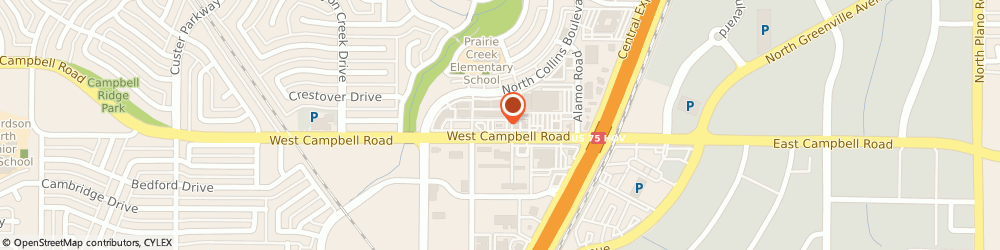 Route/map/directions to K.F.C., 75080 Richardson, 222 WEST CAMPBELL ROAD