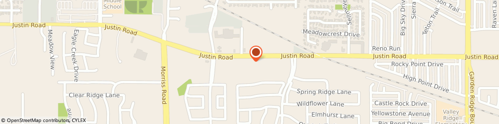 Route/map/directions to Christian Brothers Automotive Flower Mound, 75028 Flower Mound, 1713 Justin Road