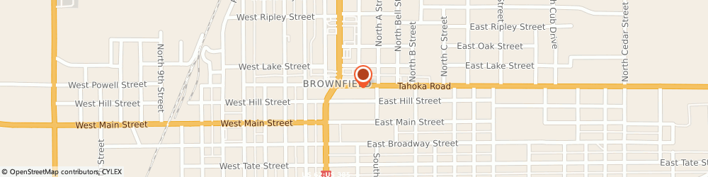 Route/map/directions to Susie Bray Insurance, 79316 Brownfield, 214 E Tahoka Rd.