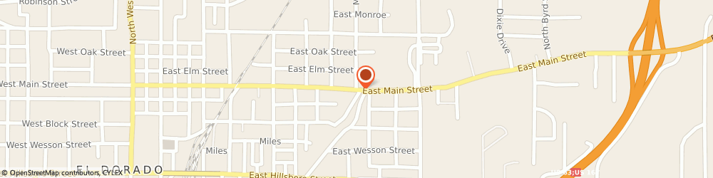 Route/map/directions to b t Trailers, 71730 El Dorado, 1100 EAST MAIN STREET