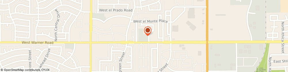 Route/map/directions to Arizona Spine and Sports Center, 85225 Chandler, 604 W Warner Rd