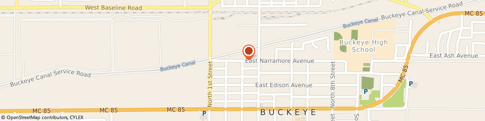 Route/map/directions to The Church Of Revelation, 85326 Buckeye, 302 E NARRAMORE AVE