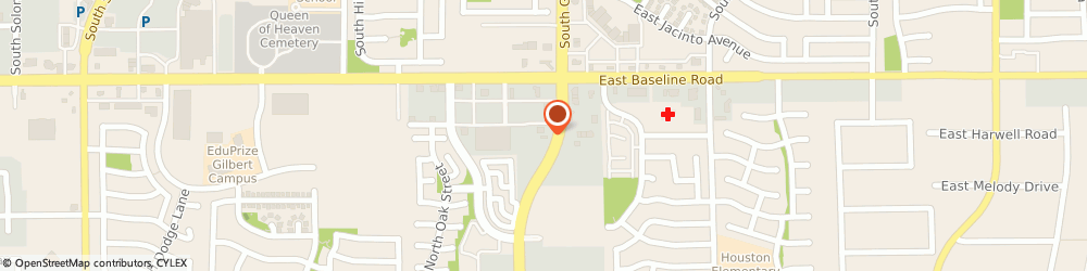 Route/map/directions to Baskin-Robbins, 85233 Gilbert, 1939 E Baseline Rd