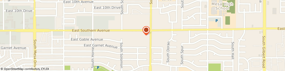 Route/map/directions to Walgreens, 85204 Mesa, 1159 E Southern Ave