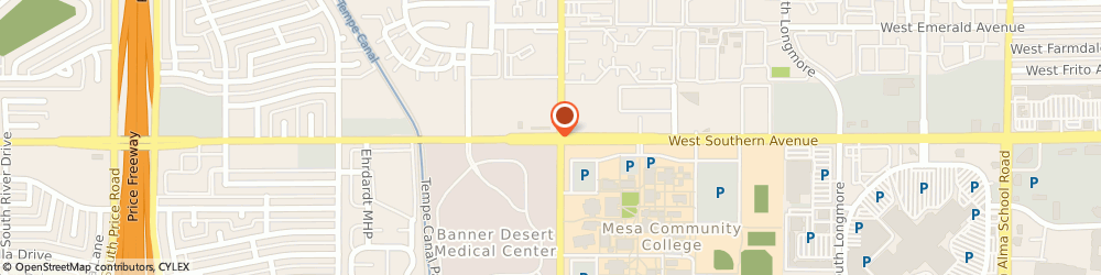 Route/map/directions to Circle K, 85202 Mesa, 2012 W SOUTHERN AVE