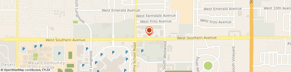 Route/map/directions to Walgreens, 85210 Mesa, 1130 W Southern Ave