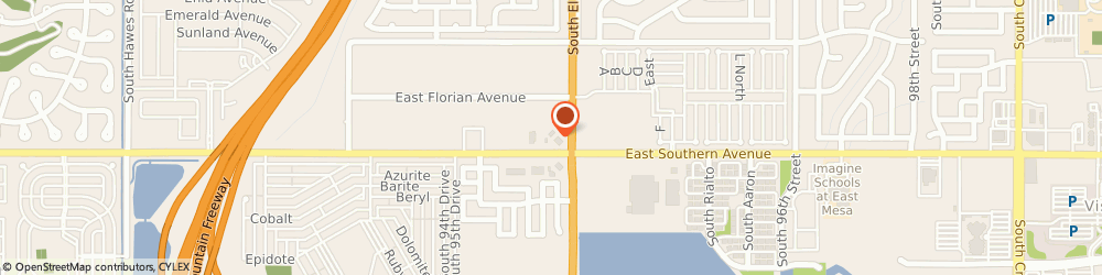 Route/map/directions to Texaco, 85208 Mesa, 1148 S. Elsworth