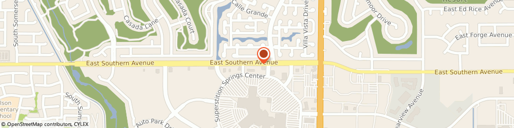 Route/map/directions to Old School Grub Cafe, 85206 Mesa, 6555 E Southern Ave
