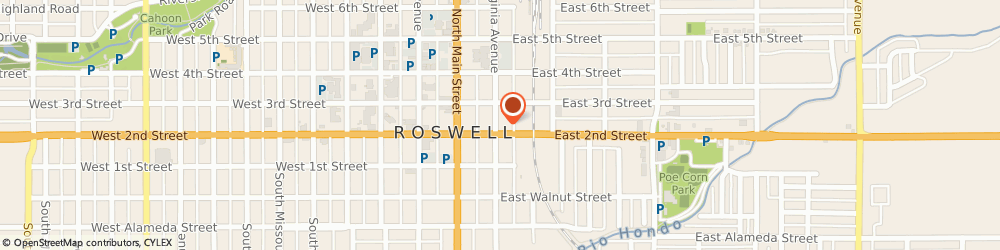 Route/map/directions to Interim HealthCare  of Roswell NM, 88201 Roswell, 201 E Second St.