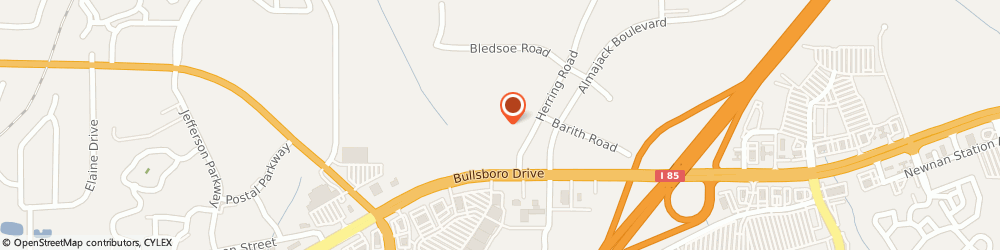 Route/map/directions to MOTEL 6 NEWNAN, 30265 Newnan, 6 Herring Road