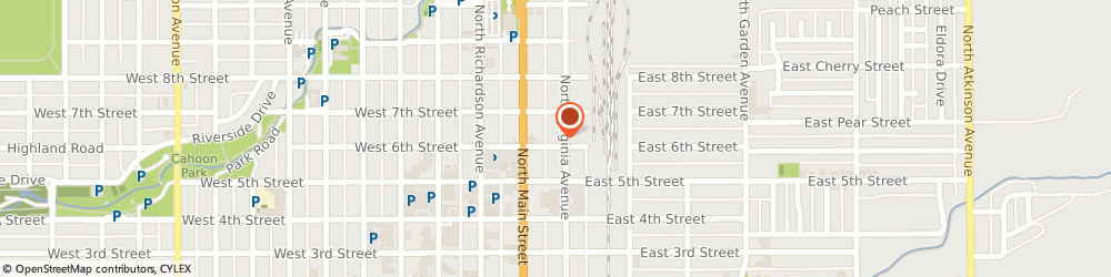 Route/map/directions to RHOADS PLUMBING AND HEATING CO, 88201 Roswell, 107 East 6Th Street