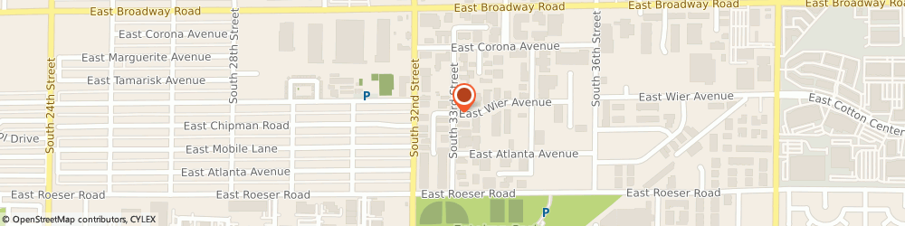 Route/map/directions to Fiberquant Incorporated, 85040 Phoenix, 5025 S. 33rd St