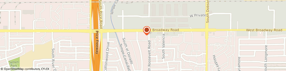 Route/map/directions to United States Postal Service, 85202 Mesa, 2415 W Broadway Rd